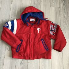 VTG Philadelphia Phillies Starter Jacket w/ Hood Size LARGE Puffy Coat MLB