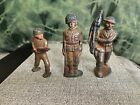 Antique WW1 Lead Toy Soldiers Lot of 3- Doughboy w/American Flag Plus 2 More!