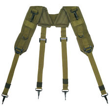 Tactical LC-1 H-Type Nylon Suspenders - OLIVE DRAB OD Green