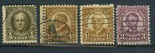Briefmarken USA 1922 Persönlichkeiten Mi.Nr.259+61+62+64