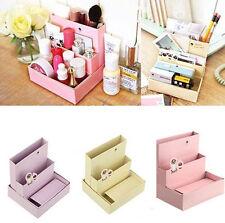 1x Paper Board Storage Box Desktop Book Organizer Makeup Cosmetic Container