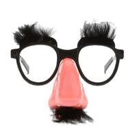 Fluffy Mustache Nose Eyes Glasses Fancy Dress Costume Party Fun Eye Mask