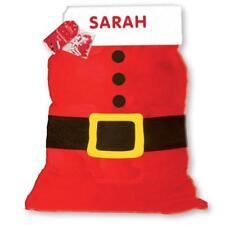 Gran Santa Saco Saco De Navidad Personalizado chicas o chicos con letras de nombre