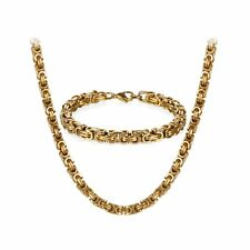 """22"""",24"""",26"""" Stainless Steel Men Chain Necklace 8.5 Inch Bracelet Jewelry Set*8MM"""