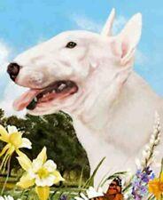 Outdoor Small Flag Bull Terrier Dog Summer Flowers Garden Flag