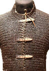 Flat Riveted Chain Mail Shirt Extra Large HUBERGION Front Open Blackened