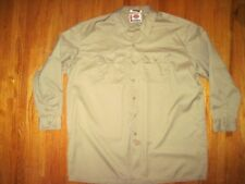 Big & Tall Men's Dickies Tan Long Sleeve Work Shirt Sizes Size 3X-Tall New