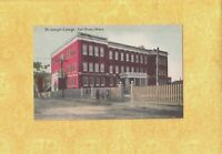 MA Fall River 1908-19 antique postcard ST. JOSEPH COLLEGE MASS kids out front