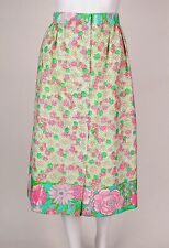 VTG 1960-1970's THE LILY LILLY PULITZER MULTI-COLOR FLORAL PRINT SKIRT Size M
