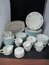Franciscan Sycamore Lot of 54 Plates-Bowls-Cups-Platter-Creamer & Sugar