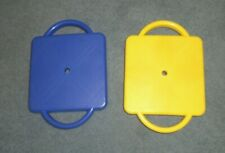 Fun! Lot Of 2-Plastic Scooter Boards w/ Safety Handles-Great For Motor Skills
