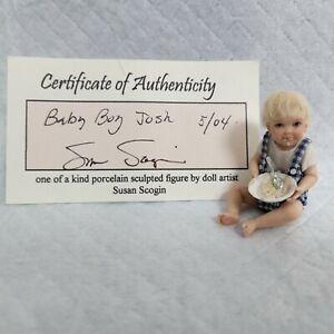 Susan Scogin OOAK Porcelain Miniature Toddler, Josh