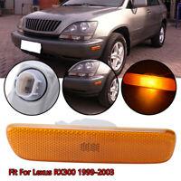 Front Right Passenger Side Bumper Marker LED Light Amber for Lexus RX300 1999-03