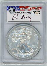 2014 $1 Silver Eagle MS70 PCGS Ed Moy 38th Director US Mint R/W/B Flag Label