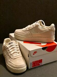 Stussy x Nike Air Force 1 Low - Fossil (Men's 7)