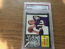 Fran Tarkenton - PSA 6 (OC) Rookie - 1962 Topps  #90 Minnesota Vikings HOF