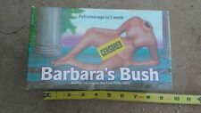 1991 Barbara'S Bush Chia planter In Original Box naughty novelty vintage '91 Nos