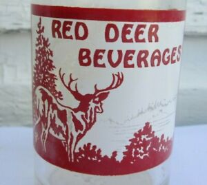 VINTAGE 1950'S RED DEER 7 OZ SODA BOTTLE RED DEER BOTTLING CO ALBERTA