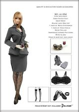 DOLLSFIGURE 1/6 CC254 Grey Office Lady suit Model For Female Figure Body Toy