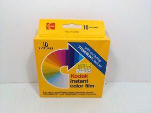 Kodak instant camera color film PR144-10 10 Pictures Expires 05/1986 New Vntg