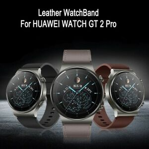 Premium Genuine Leather Wrist Watch Band Strap For Huawei Watch GT 2 Pro 46mm