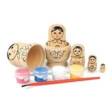 VERNICE proprio bambole russe - 5 nidificare MATRYOSHKA KIT Craft KIT Nidificazione in Legno