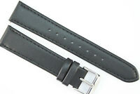 MADISON Uhrenarmband 18mm weiches Kalbsleder Schwarz Länge: M  Top Qualität