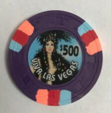 Viva Las Vegas Show Girl $500 Casino Chip