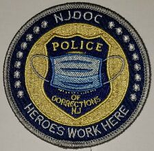 """NJ DOC New Jersey Department of Corrections Correctional CO-VID Police Patch 3"""""""