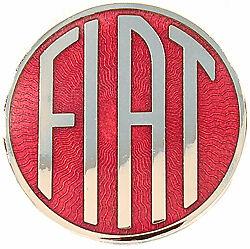 FIAT Radiator Trunk Horn Button Emblem Medalion Cloisonne 1950s