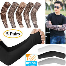 1-10P Fake Temporary Tattoo Sleeve Arm Cover Cooling UV Sun Protection Sports