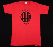 Vtg 1970s Prisoners Union T-Shirt howard zinn civil rights movement ched knits