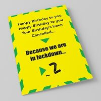 Birthday lockdown Card