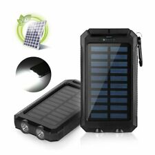 Waterproof 100000mAh Portable Solar Battery Charger Solar Power Bank 2 USB 2020