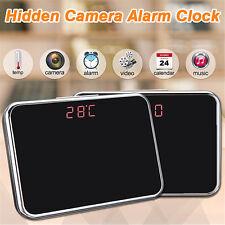 Spy Alarm Clock Mini Video Recorder Camera Hidden Nanny Cam DVR Motion Detection