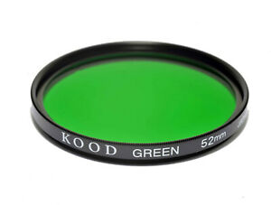 52mm High Quality Kood Optical Glass Green Filter Made in Japan 52mm