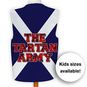 Scotland - The Brave - Tartan Army Saltire - Euros Fancy Dress Waistcoat
