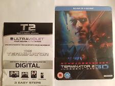 Terminator 2 Judgment Day 3D+Blu-ray OOP STEELBOOK Region B+Digital for T1 & T2