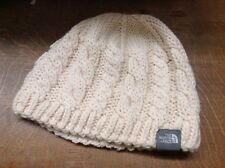 The North Face Beanie Hat Cream cable knit wool blend one size fleece head band