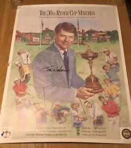 Ryder Cup USA Golf 1993 Auto Poster ~ TOM WATSON ~ KITE ~ LOVE III ~JANZEN ~COOK