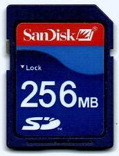 Tarjeta de memoria SD Sandisk de 256MB