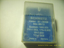 70 pc Schmetz sewing machine needles 1985 Ses 175x1 Ses Nm 80/12