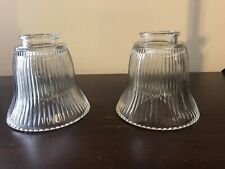 Bell Shaped Glass Globes- Set of 2