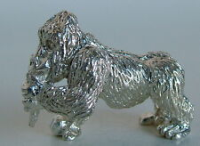 MINIATURE SOLID STERLING SILVER GORILLA FIGURINE NEW!