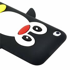 Penguin Silicone Skin Case compatible with Apple iPod touch 4th Gen, Black CP