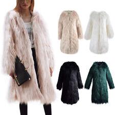Women Faux Fur Short Coat Winter Warm Jacket Lady Thicken Shaggy Parka Outerwear