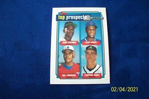 1992 TOPPS TOP PROSPECTS WITH BRAVES CHIPPER JONES  # 551