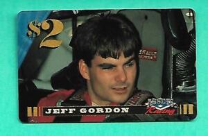 (1) JEFF GORDON 1996 ASSETS RACING TWO DOLLAR PHONE NM+ CARD (V1924)
