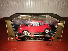 Burago 1/18 Scale Die Cast 1998 Red Volkswagen New Beetle MIB!!