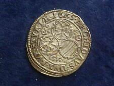 """3 Kreuzer ( Groschen )  Leopold I. 1665 Graz """" Erhaltung """"   RDR W/18/336"""